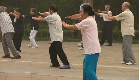 Usefulness of tai-chi to escape from the pain of knee joint conveniently